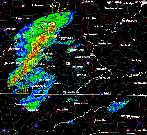 Radar Image for Severe Thunderstorms near Midway, KY at 4/5/2017 6:59 PM EDT