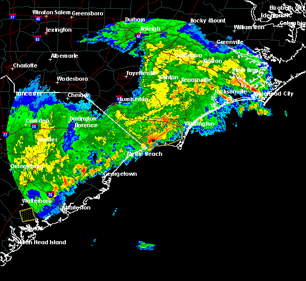 Radar Image for Severe Thunderstorms near Leland, NC at 4/5/2017 7:12 PM EDT