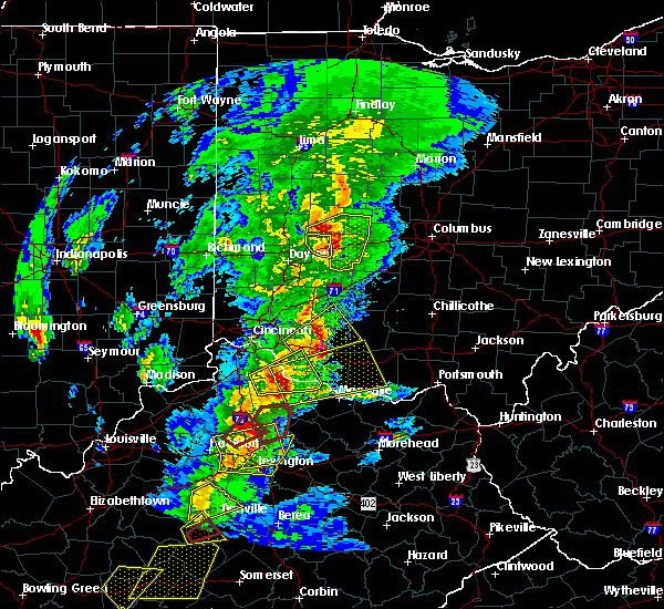 Radar Image for Severe Thunderstorms near Springfield, OH at 4/5/2017 7:12 PM EDT