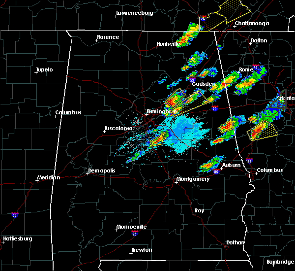 Radar Image for Severe Thunderstorms near Pell City, AL at 4/5/2017 6:21 PM CDT