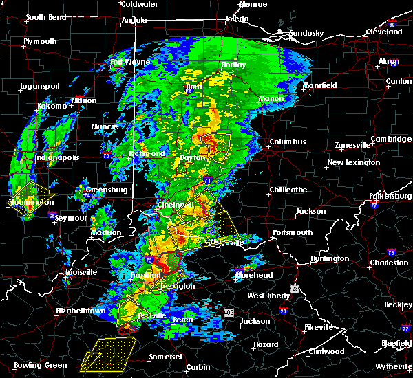 Radar Image for Severe Thunderstorms near South Vienna, OH at 4/5/2017 7:21 PM EDT