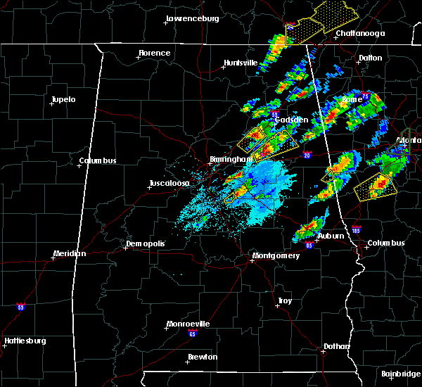 Radar Image for Severe Thunderstorms near Pell City, AL at 4/5/2017 6:27 PM CDT