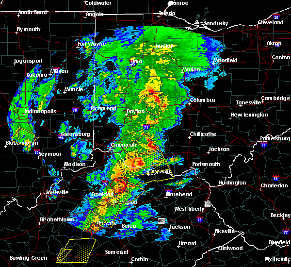 Radar Image for Severe Thunderstorms near West Union, OH at 4/5/2017 7:31 PM EDT