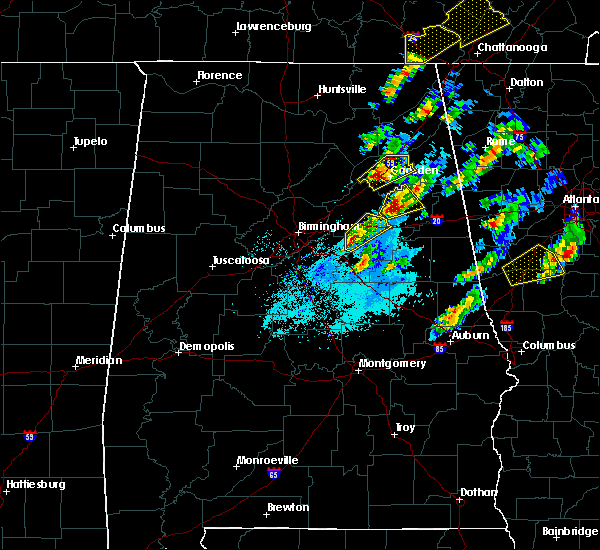 Radar Image for Severe Thunderstorms near Pell City, AL at 4/5/2017 6:44 PM CDT