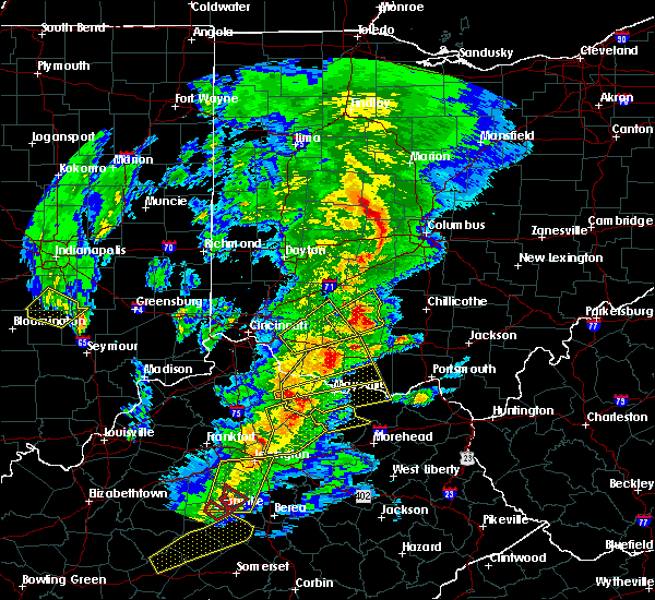 Radar Image for Severe Thunderstorms near West Union, OH at 4/5/2017 7:44 PM EDT