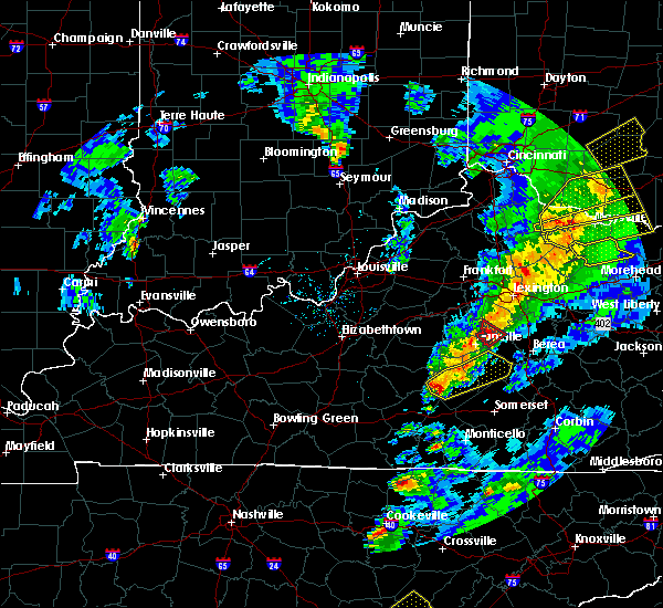 Radar Image for Severe Thunderstorms near Liberty, KY at 4/5/2017 7:47 PM EDT