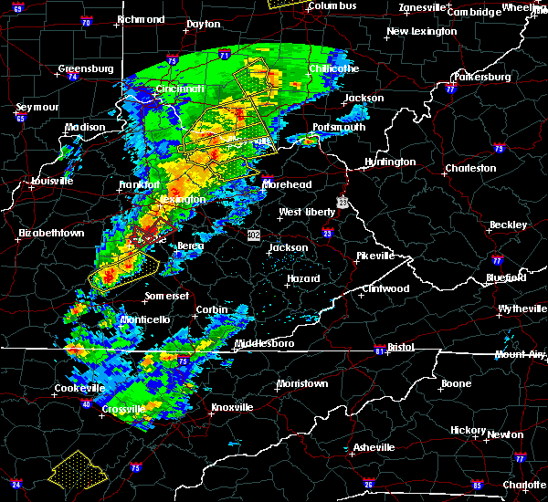 Radar Image for Severe Thunderstorms near Ewing, KY at 4/5/2017 7:50 PM EDT