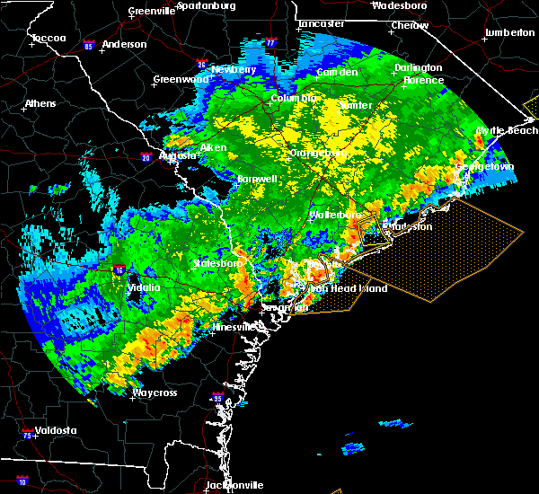 Radar Image for Severe Thunderstorms near Ravenel, SC at 4/5/2017 7:50 PM EDT