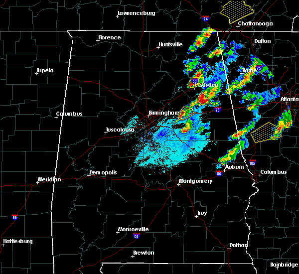 Radar Image for Severe Thunderstorms near Pell City, AL at 4/5/2017 6:53 PM CDT
