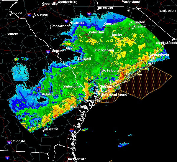 Radar Image for Severe Thunderstorms near Charleston, SC at 4/5/2017 8:00 PM EDT