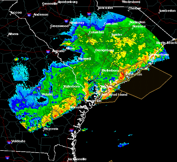Radar Image for Severe Thunderstorms near North Charleston, SC at 4/5/2017 8:06 PM EDT