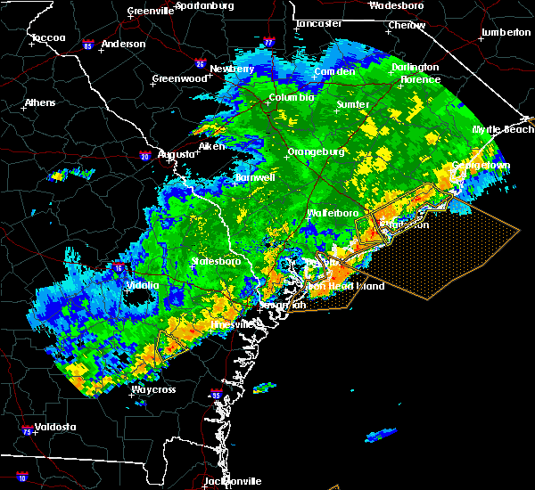 Radar Image for Severe Thunderstorms near North Charleston, SC at 4/5/2017 8:09 PM EDT