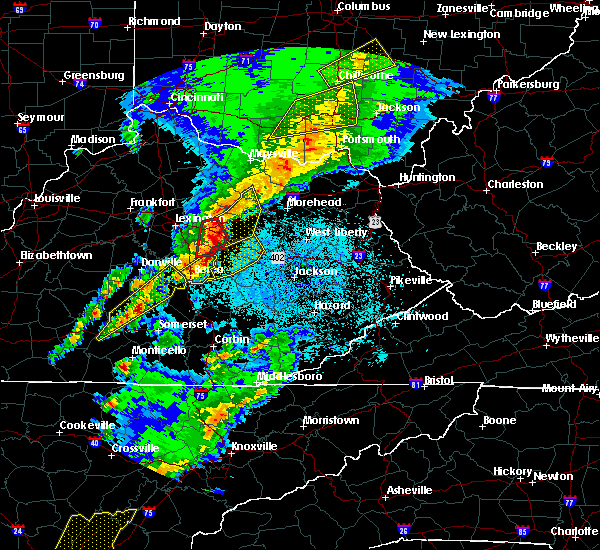 Radar Image for Severe Thunderstorms near Jeffersonville, KY at 4/5/2017 8:34 PM EDT