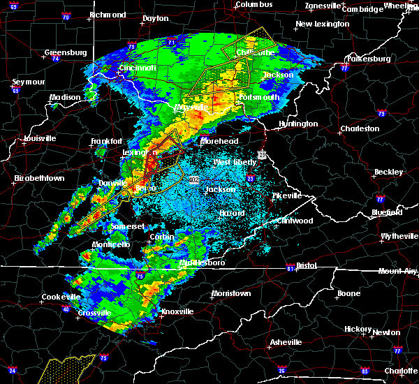 Radar Image for Severe Thunderstorms near Mount Sterling, KY at 4/5/2017 8:37 PM EDT