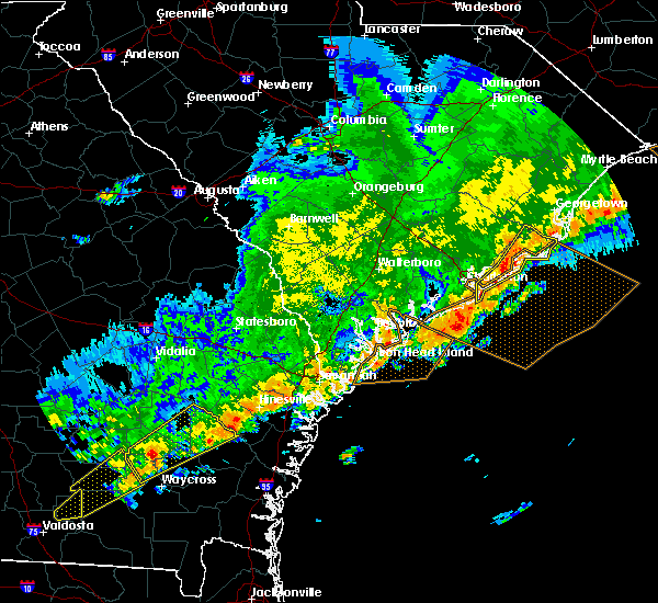 Radar Image for Severe Thunderstorms near Charleston, SC at 4/5/2017 8:38 PM EDT