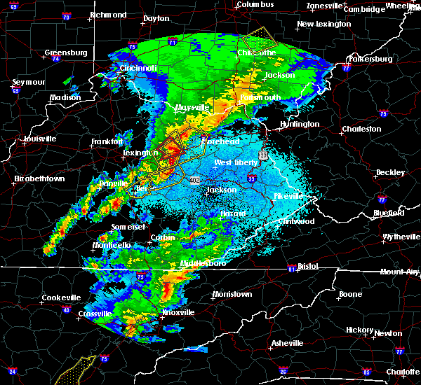 Radar Image for Severe Thunderstorms near Mount Sterling, KY at 4/5/2017 8:56 PM EDT