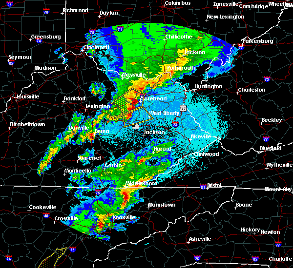Radar Image for Severe Thunderstorms near Morehead, KY at 4/5/2017 9:08 PM EDT