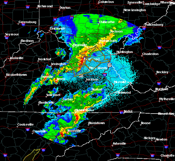 Radar Image for Severe Thunderstorms near Sandy Hook, KY at 4/5/2017 9:16 PM EDT
