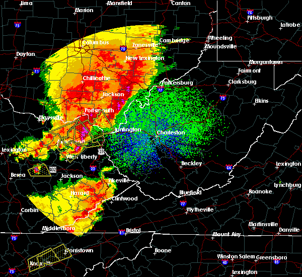 Radar Image for Severe Thunderstorms near Grayson, KY at 4/5/2017 9:49 PM EDT