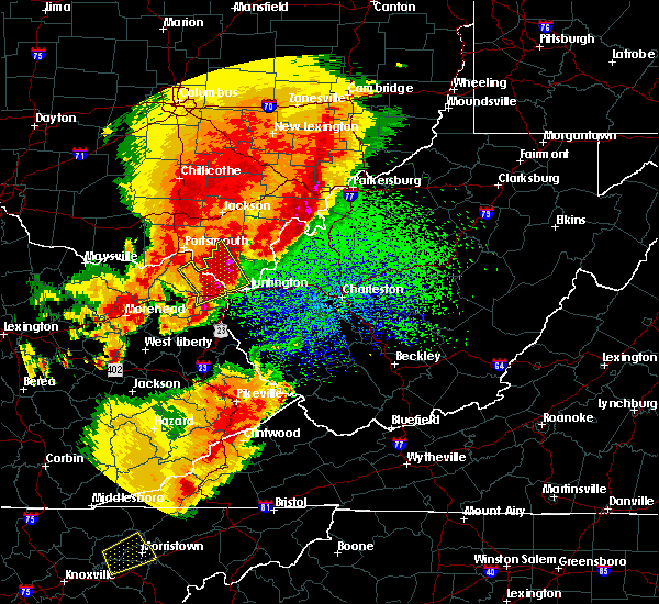 Radar Image for Severe Thunderstorms near Russell, KY at 4/5/2017 10:05 PM EDT