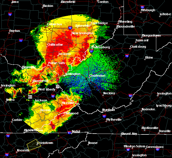 Radar Image for Severe Thunderstorms near Russell, KY at 4/5/2017 10:13 PM EDT