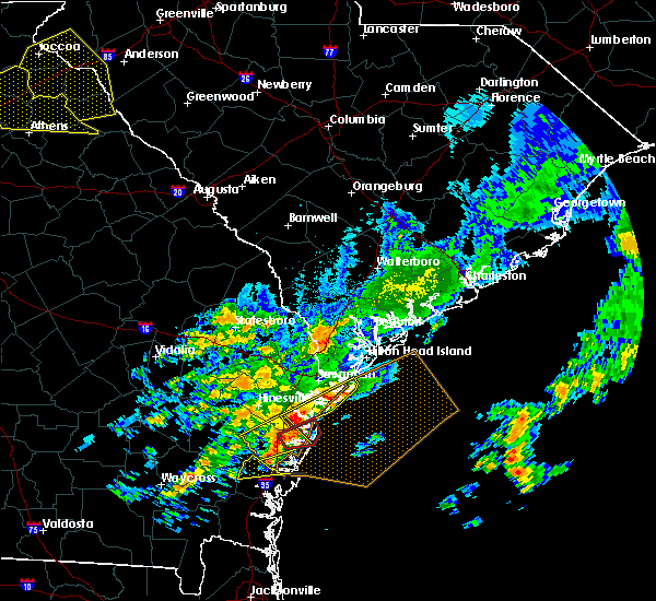 Radar Image for Severe Thunderstorms near Savannah, GA at 4/5/2017 11:36 PM EDT