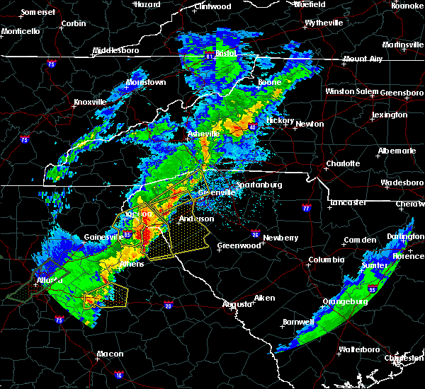 Radar Image for Severe Thunderstorms near Berea, SC at 4/5/2017 11:58 PM EDT