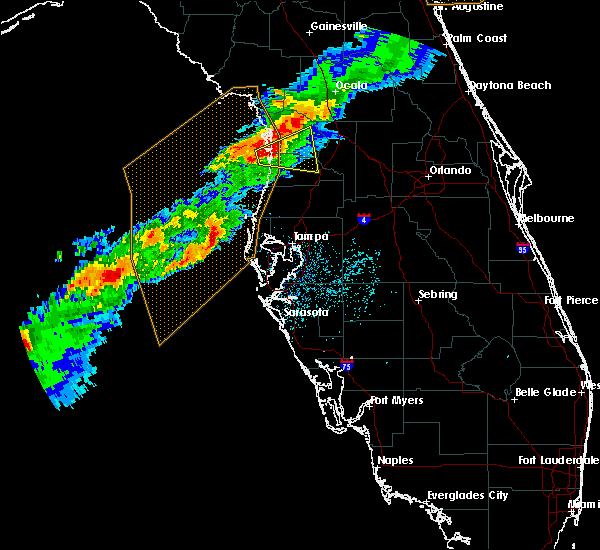 Radar Image for Severe Thunderstorms near Floral City, FL at 4/6/2017 4:00 AM EDT
