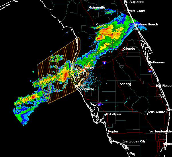Radar Image for Severe Thunderstorms near Tampa, FL at 4/6/2017 5:18 AM EDT
