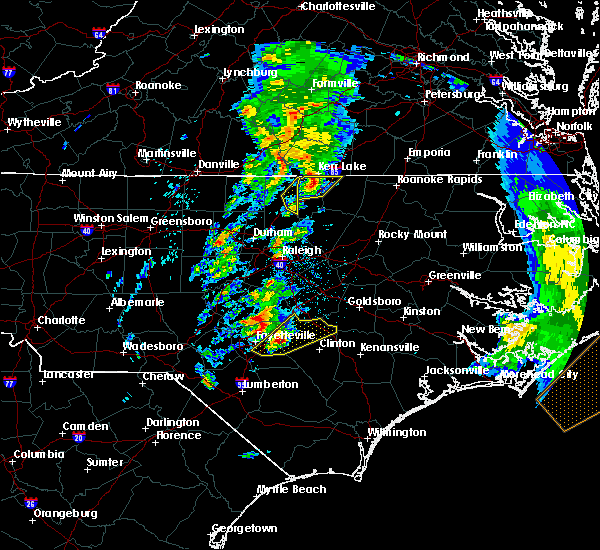 Radar Image for Severe Thunderstorms near Norlina, NC at 4/6/2017 8:16 AM EDT