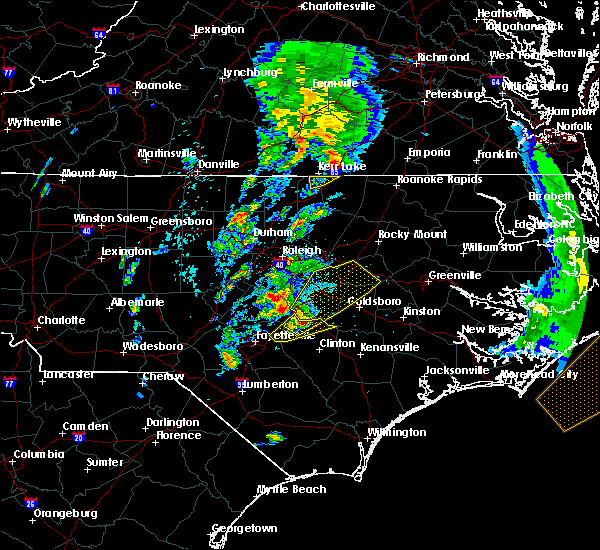 Radar Image for Severe Thunderstorms near Wilson, NC at 4/6/2017 8:31 AM EDT