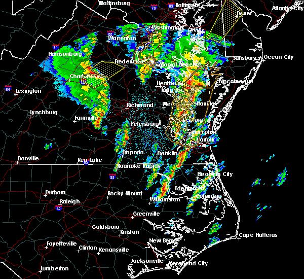 Radar Image for Severe Thunderstorms near Yorktown, VA at 4/6/2017 12:30 PM EDT