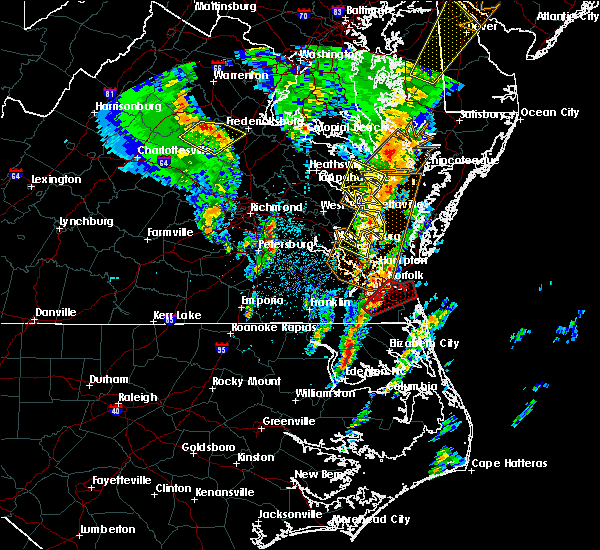 Radar Image for Severe Thunderstorms near Chesapeake, VA at 4/6/2017 12:42 PM EDT