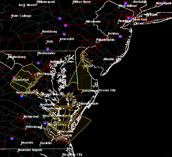 Radar Image for Severe Thunderstorms near Dover, DE at 4/6/2017 1:15 PM EDT
