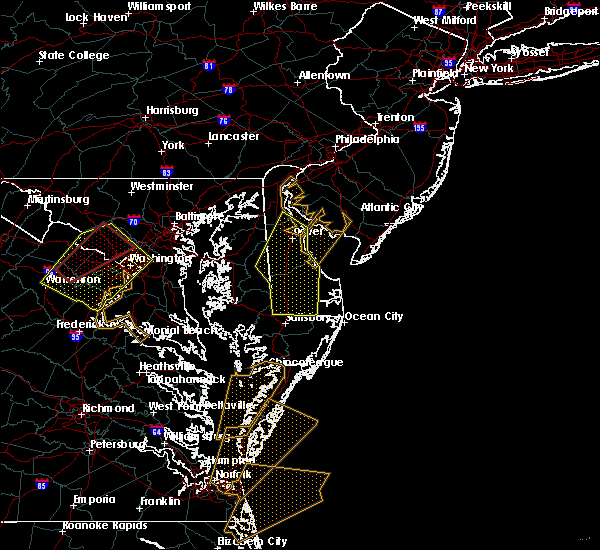 Radar Image for Severe Thunderstorms near Milford, DE at 4/6/2017 1:40 PM EDT