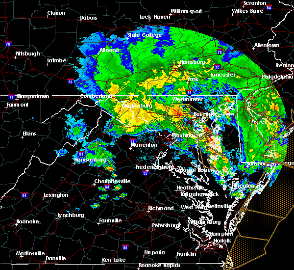 Radar Image for Severe Thunderstorms near Westminster, MD at 4/6/2017 2:28 PM EDT