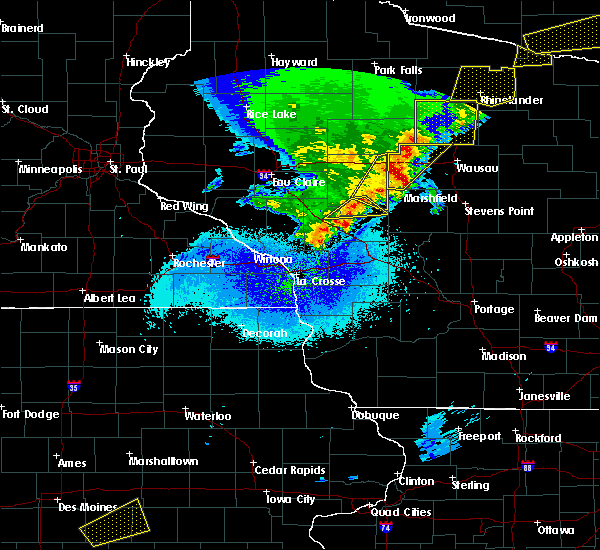 Radar Image for Severe Thunderstorms near Unity, WI at 4/10/2017 12:33 AM CDT