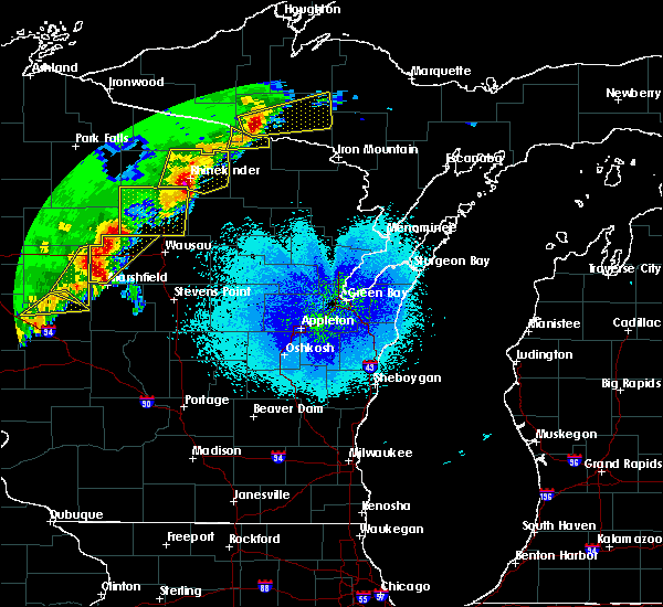Radar Image for Severe Thunderstorms near Tomahawk, WI at 4/10/2017 12:33 AM CDT