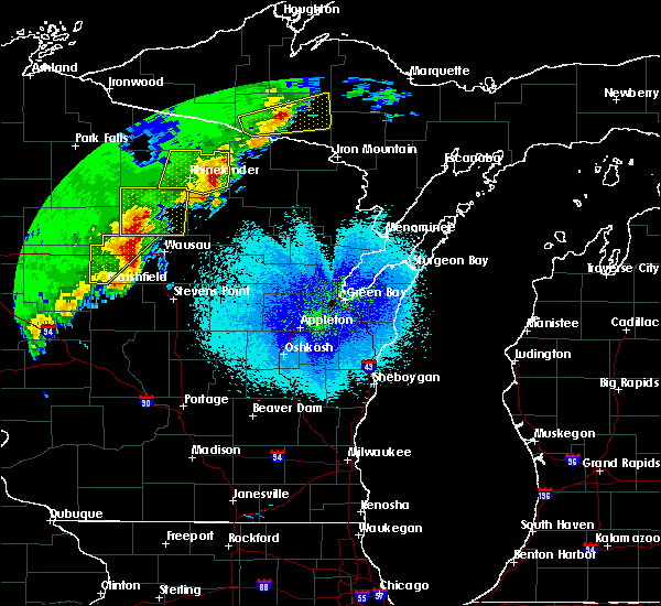 Radar Image for Severe Thunderstorms near Tomahawk, WI at 4/10/2017 12:48 AM CDT