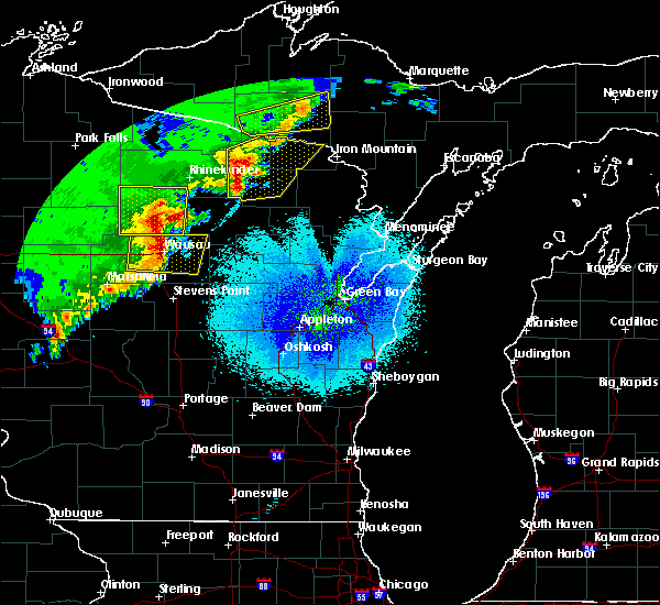 Radar Image for Severe Thunderstorms near Mosinee, WI at 4/10/2017 1:03 AM CDT