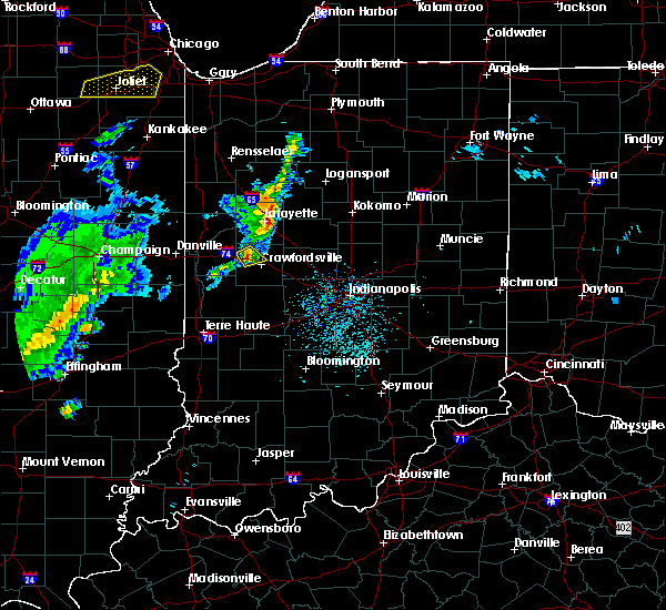 Radar Image for Severe Thunderstorms near Crawfordsville, IN at 4/10/2017 1:54 PM EDT