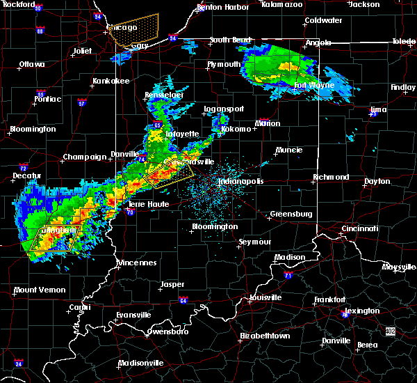 Radar Image for Severe Thunderstorms near New Market, IN at 4/10/2017 3:43 PM EDT