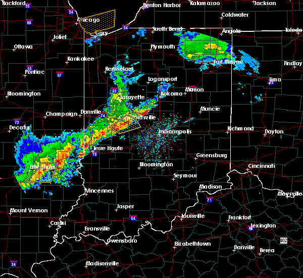 Radar Image for Severe Thunderstorms near Crawfordsville, IN at 4/10/2017 3:46 PM EDT