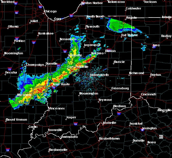 Radar Image for Severe Thunderstorms near Advance, IN at 4/10/2017 4:02 PM EDT
