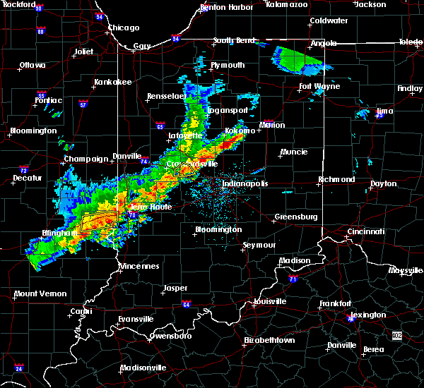 Radar Image for Severe Thunderstorms near Advance, IN at 4/10/2017 4:11 PM EDT