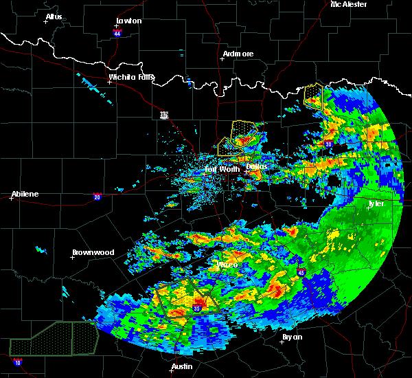 Radar Image for Severe Thunderstorms near Honey Grove, TX at 4/11/2017 12:30 AM CDT