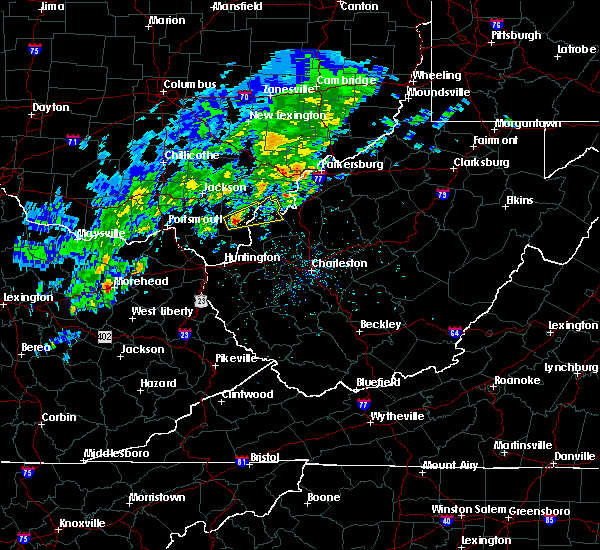 Radar Image for Severe Thunderstorms near Gallipolis, OH at 4/11/2017 5:03 PM EDT