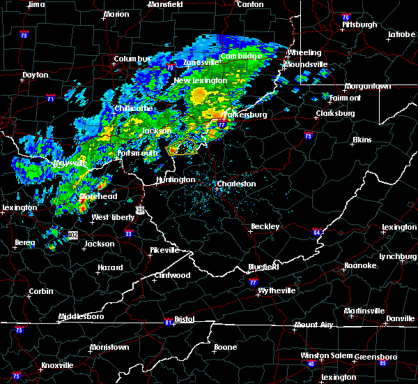 Radar Image for Severe Thunderstorms near Gallipolis, OH at 4/11/2017 5:13 PM EDT