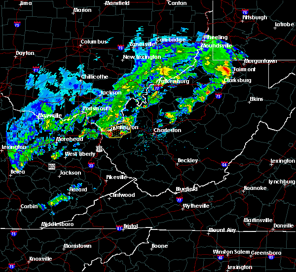 Radar Image for Severe Thunderstorms near Huntington, WV at 4/11/2017 6:56 PM EDT