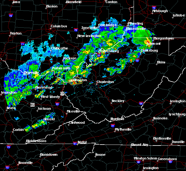 Radar Image for Severe Thunderstorms near Huntington, WV at 4/11/2017 7:08 PM EDT